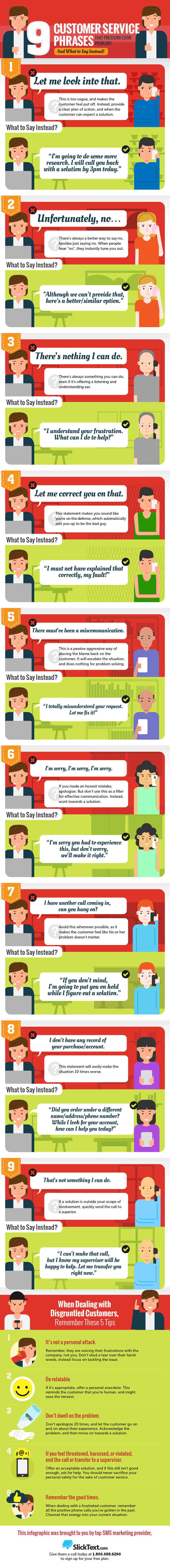 9 customer service phrases that pressure cook problems and what to