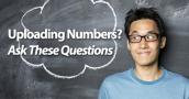 SMS marketing number upload