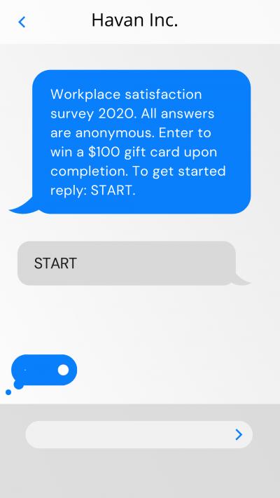survey text template